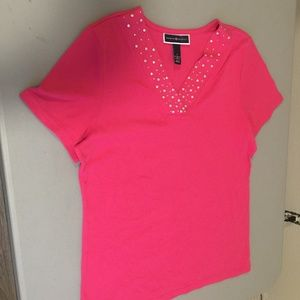 Karen Scott Embellished Shirt